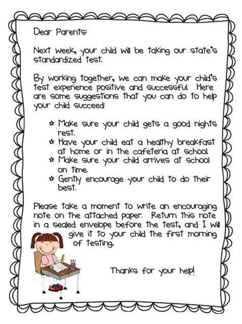 Parent Letter For Compass Learning 17 Best Images About Testing Testing 1 2 3 On Test Taking Strategies