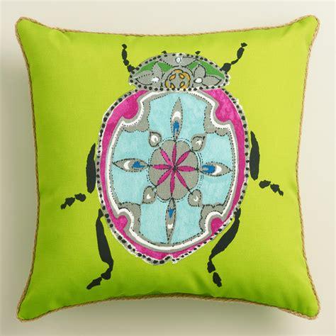 green beetle outdoor throw pillow world market
