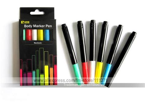 3sets 6pcs pens set water based body marker pen paints