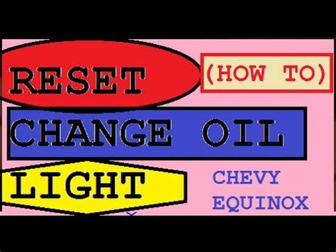 How To Reset Check Engine Light On Chevy Silverado by Change Engine Indicator Light On 2008 Chevy Equinox