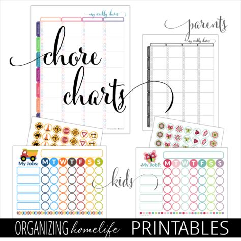 printable home organizing charts spring cleaning ebook printable video bundle i dream of