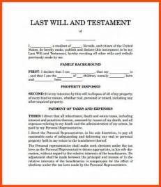 sle will template sle of a last will and testament template read book sle