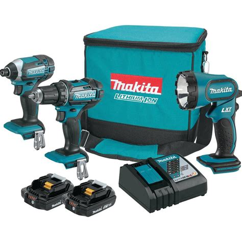 makita cordless drill with light makita 18 volt compact lithium ion cordless combo kit with