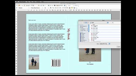 Creating A Book Cover In Openoffice Writer Youtube Openoffice Book Template