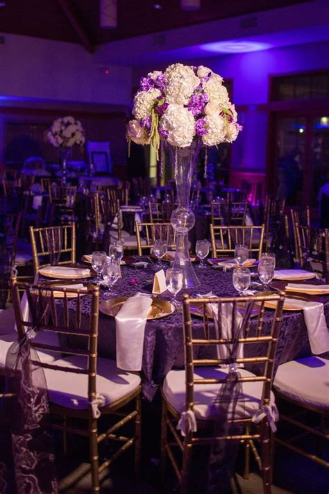 purple gold wedding decor my wedding receptions wedding and