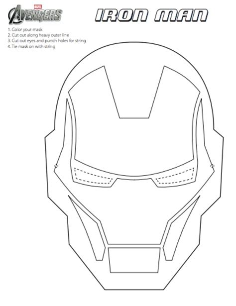 printable mask avengers diy the avengers mask printables printables patterns