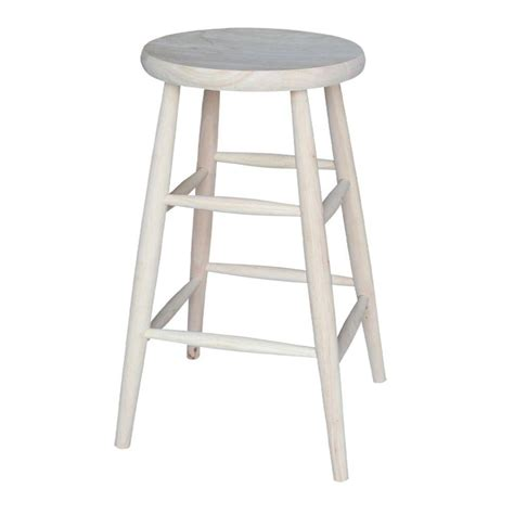 Unfinished Wood Bar Stool International Concepts 30 In Unfinished Wood Bar Stool 1s 830 The Home Depot