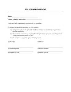 Release Letter To Attend Polygraph Consent Template Sle Form Biztree