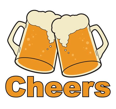 beer cheers cartoon cheers beers clipart 19