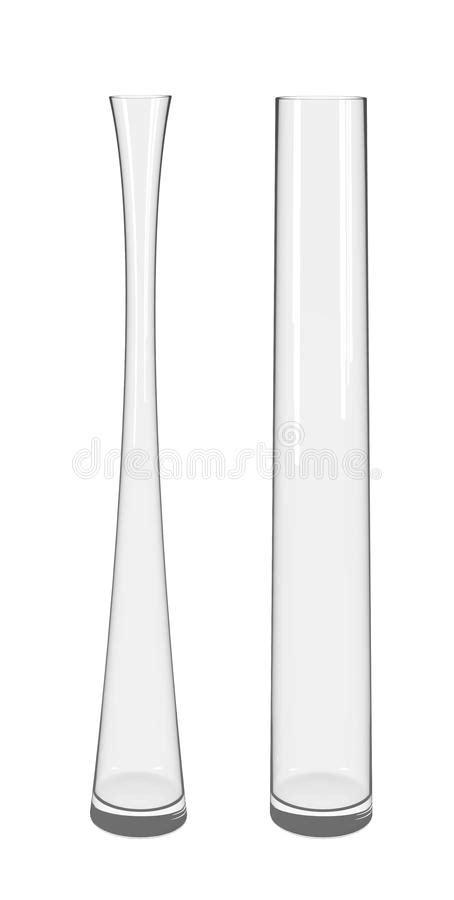 vasi plastica alti alti vasi trasparenti di vetro fotografia stock immagine