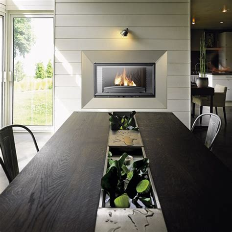 invicta fireplaces horizontal 840 wood and gas