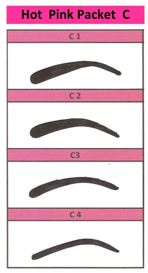 4 eyebrow stencil styles shaping waxing colouring kit