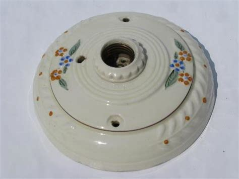 Antique 1920 Ceiling Light Fixtures Porcelier Ironstone China Antique Electric Ceiling Light Fixture 1920s Vintage