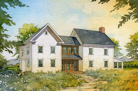 farmhouse com quot madson design house plans gallery american homestead