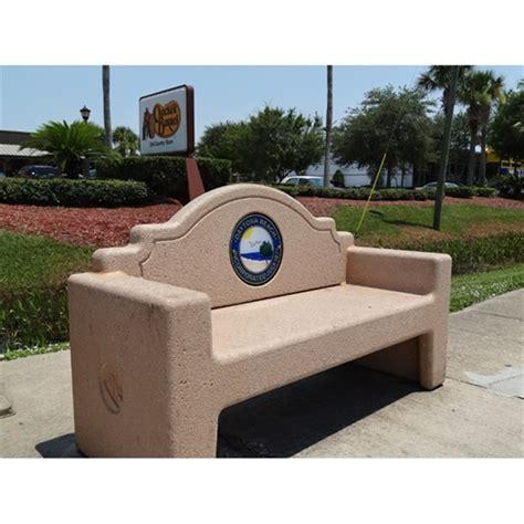 concrete memorial bench 7 ft concrete custom memorial bench by park tables