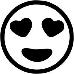 emoji black and white heart eyes teacher emoji rubber st simply sts
