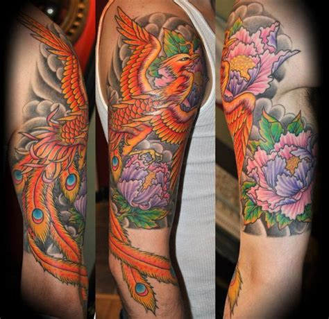 phoenix sleeve tattoo designs half sleeve tattoos