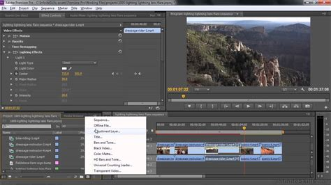 tutorial adobe premiere effects adobe premiere pro cc tutorial using the lighting