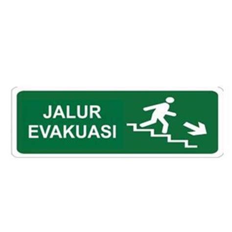Petunjuk Arah Jalur Evakuasi Gantung Bahan Akrylik 1 jual keselamatan tanda jalur evakuasi turun tangga kanan