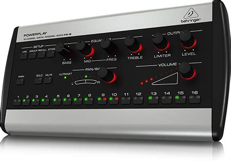 Mixer Audio Monitor Ma801s 8 Channel behringer p16m personal mixer stage sound