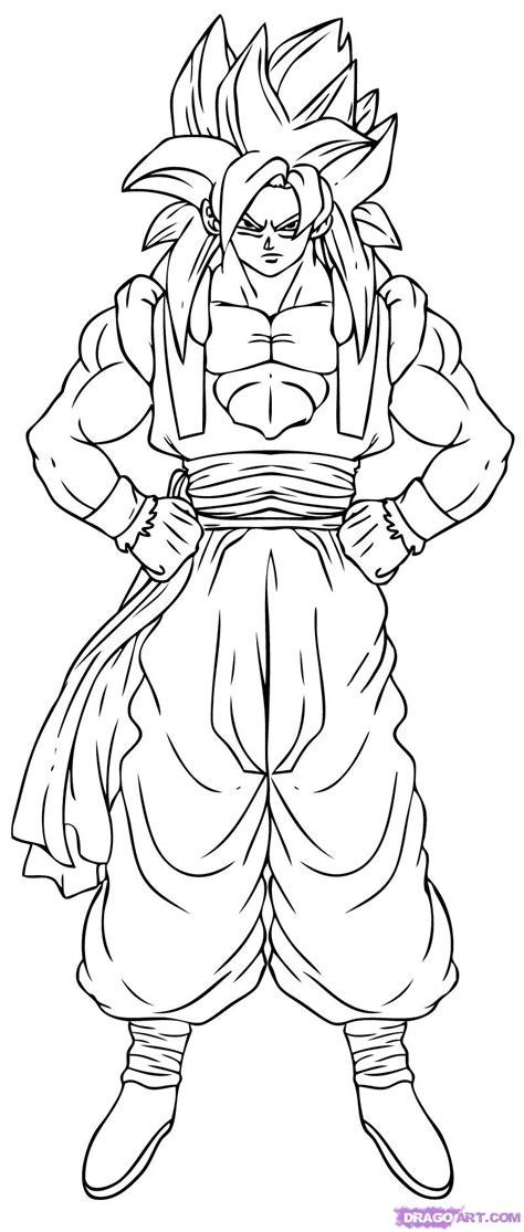 draw dragon ball super saiyan 4