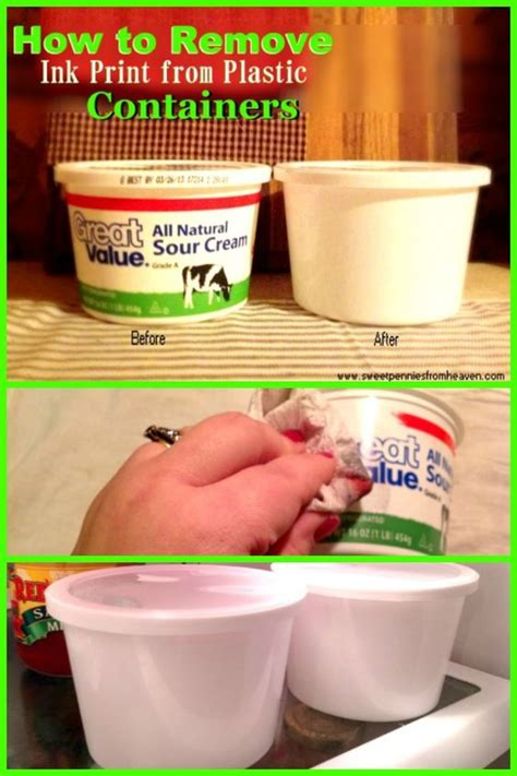 how to remove ink from plastic containers so you can reuse them towels to remove and how to