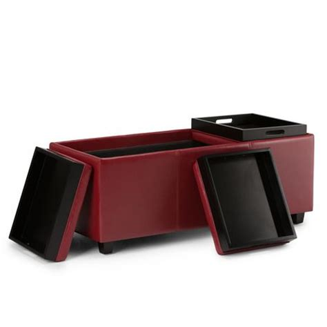 extra large serving tray for ottoman wyndenhall franklin extra large rectangular storage