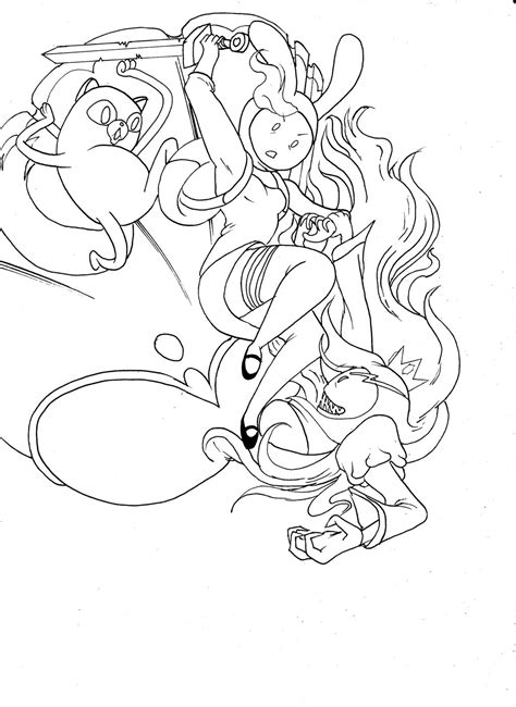 adventure time coloring pages fionna and cake adventure time fionna line art by semajz