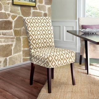 Dining Room Chair Covers With Buttons Quickcover Ikat Relaxed Fit Dining Chair Slipcover With
