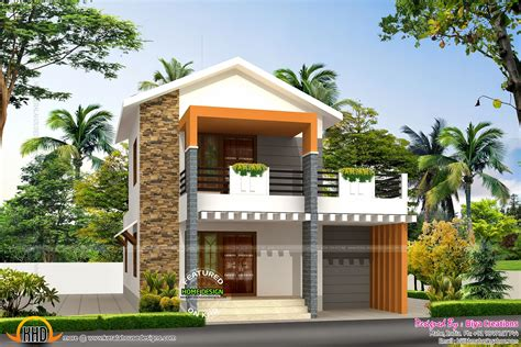 Small double storied house in 1200 sq feet Kerala home design and floor plans