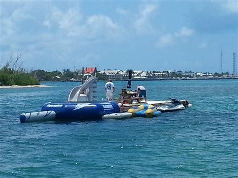 key west banana boat the barge packed with jet skis banana boats parasailing