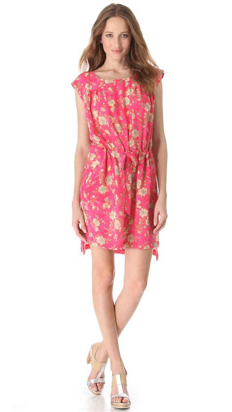 Boxy Dress lyst suno drawstring boxy tunic dress in