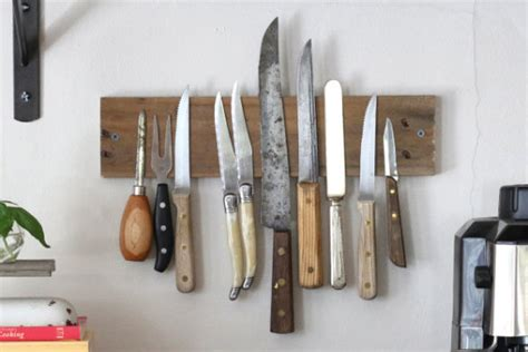 how to make kitchen knives 17 apart on ehow diy magnetic knife rack