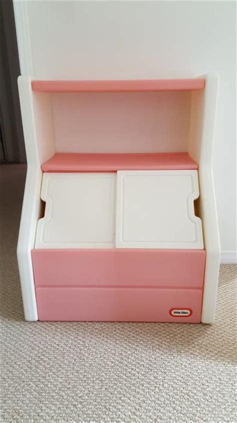 Tikes Box Pink With Shelf by Tikes Pink White Box And Bookshelf Kanata Ottawa