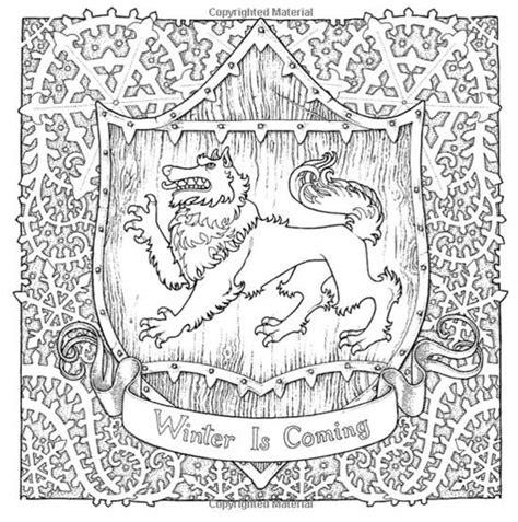 unofficial of thrones colouring book 变身奈德史塔克 气象预报显示 凛冬将至 微淘网