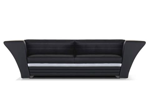 Leather Sofa With Headrest Avatar Moderno Collection By