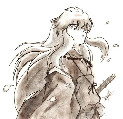imagenes de inuyasha para dibujar a lapiz dibujo de inuyasha imagui