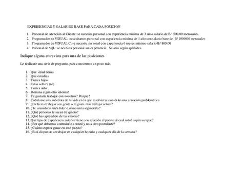 preguntas entrevista de trabajo programador web proyecto final centro de computo