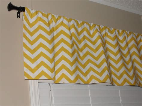 chevron kitchen curtains valance premier prints yellow chevron valance 50 wide x