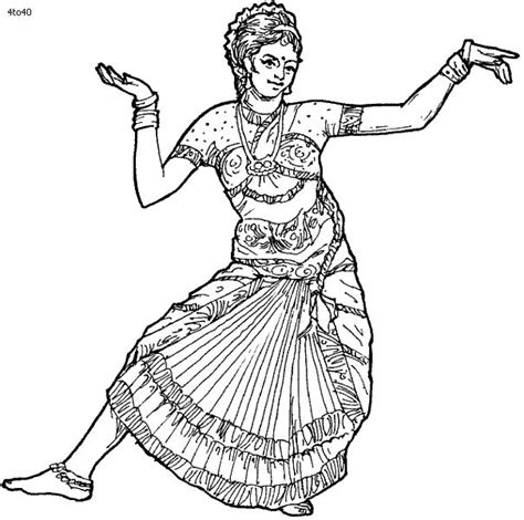 coloring page indian https www it blank html india dances