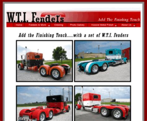w t i fenders add the finishing touch kentland indiana wti fenders com w t i fenders add the finishing touch