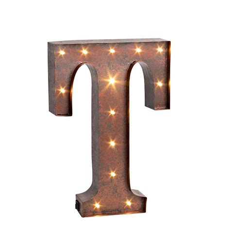 lighted metal initials wall plate design ideas