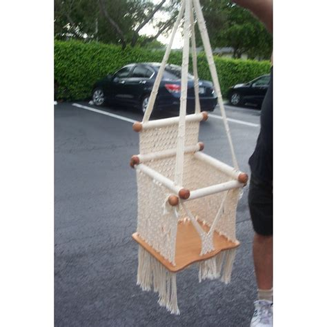 vintage baby swing rare vintage macrame baby swing 45 found on polyvore