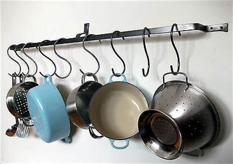 Kitchen Wall Hooks For Pots And Pans Hanging Pot Rack Pan Kitchen Iron Wall Mounted