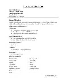 Types Of Resumes Examples Different Types Of Resume Formats