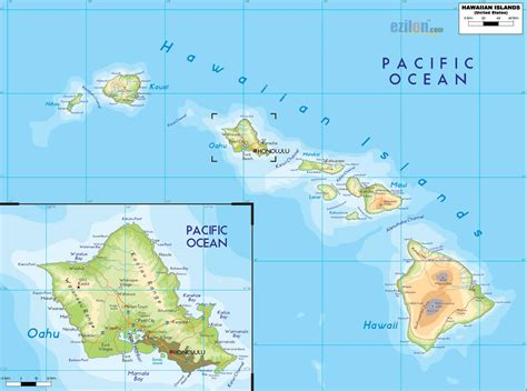 map of usa and hawaii usa map