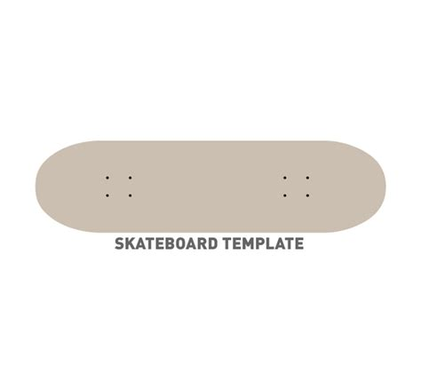 Skateboard Template Vector Free Download Skateboard Design Template