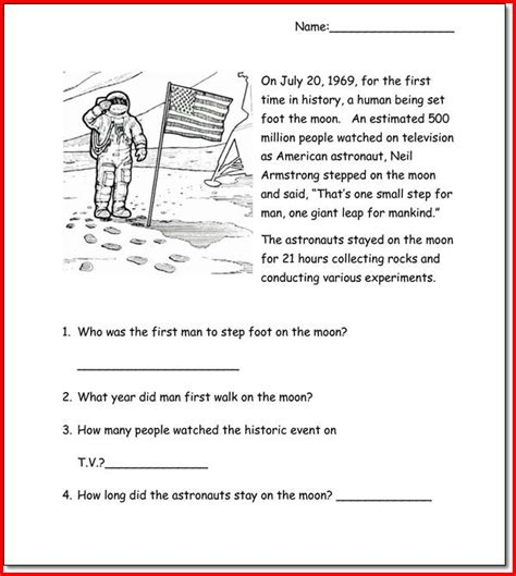 free printable english comprehension worksheets for grade 3 1st grade reading comprehension passages worksheets for