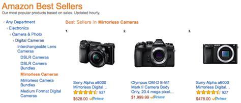 amazon s best seller rank amazon s best selling cameras latest bcn sales ranking