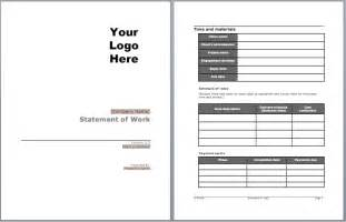 Contractor Statement Of Work Template by Statement Of Work Template Microsoft Word Templates